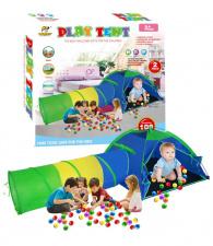 Vaikiška žaidimų palapinė su tuneliu