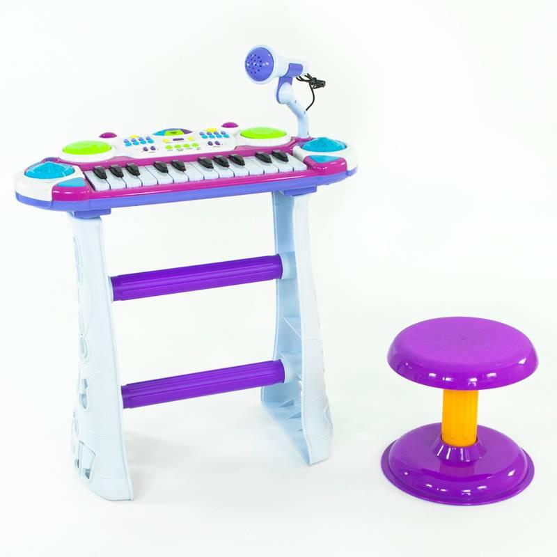 Vaikiškas pianinas su mikrofonu ir kėdute B15