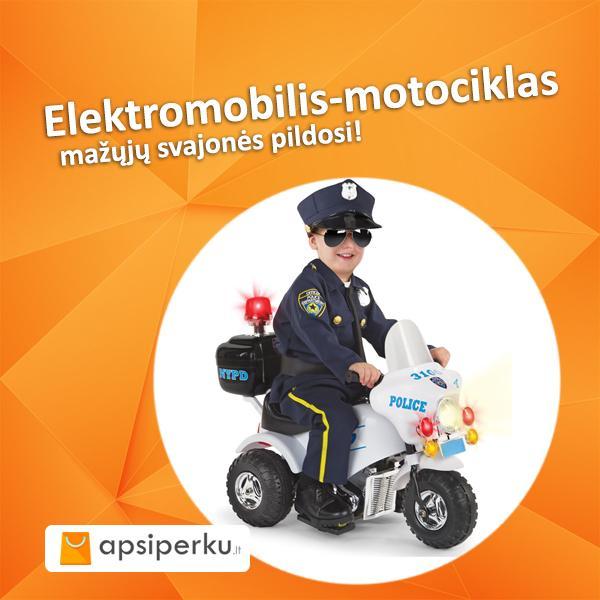ELEKTROMOBILIS - MOTOCIKLAS VAIKAMS