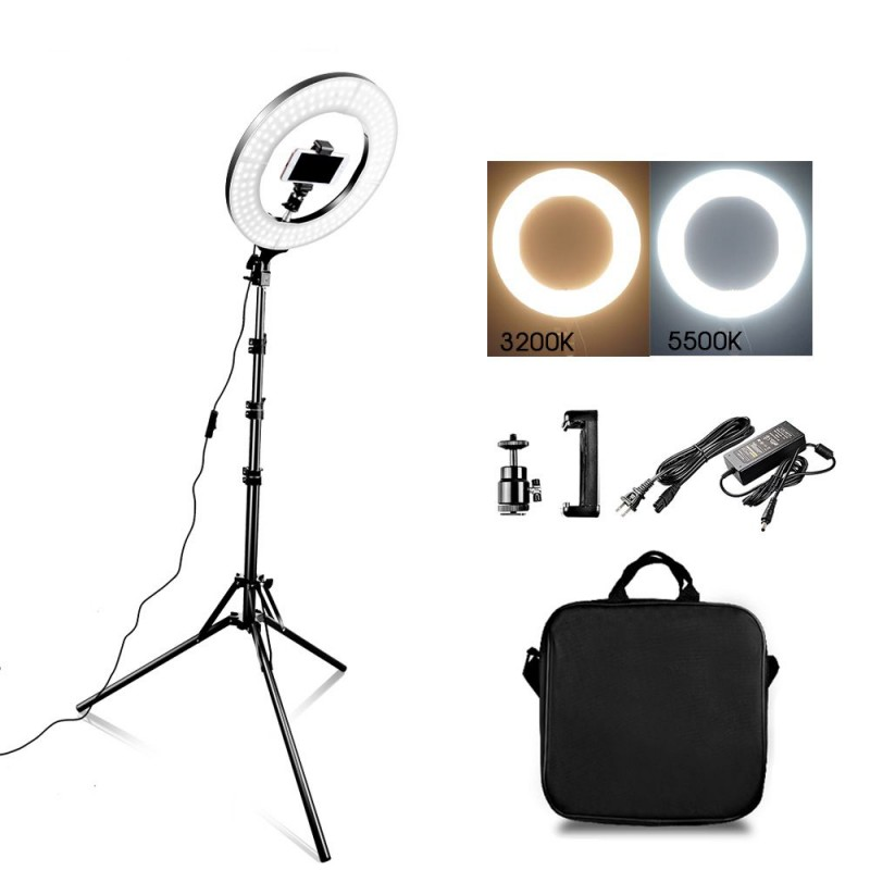 ŠVIESTUVAS RING LIGHT 34CM' 35W LED + STOVAS